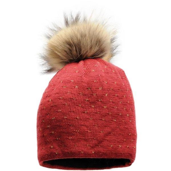 Červená dámská zimní čepice Starling - univerzální velikost