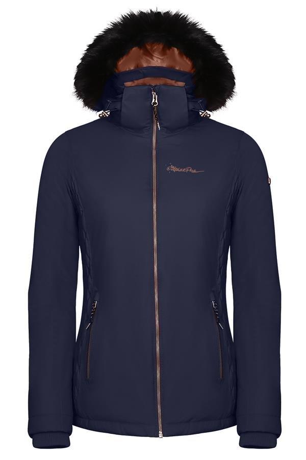 Modrá zimní dámská bunda s kapucí Alpine Pro - velikost S-L