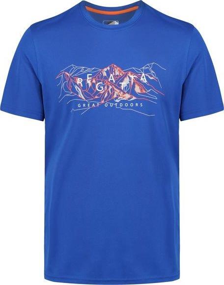 Modré pánské funkční tričko s krátkým rukávem Regatta - velikost S