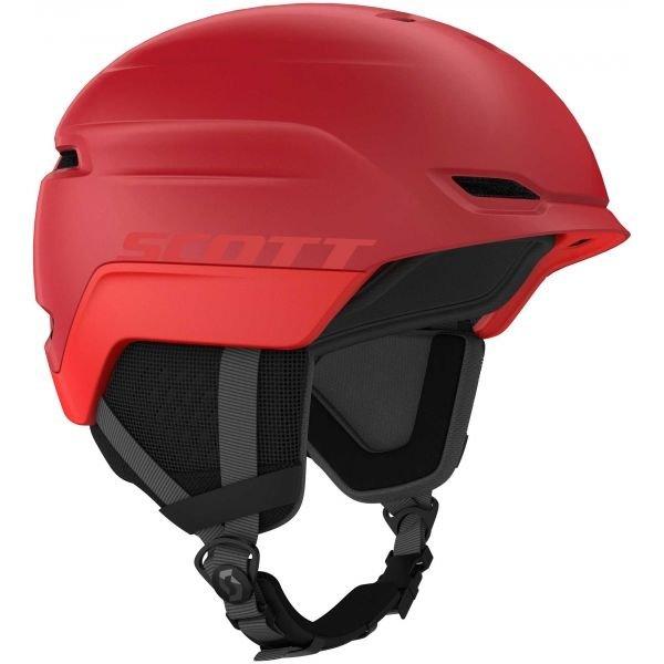 Červená lyžařská helma Scott - velikost 55-59 cm