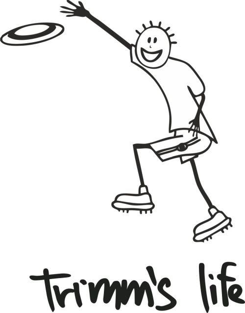 Šedé pánské tričko s krátkým rukávem Frisbee, Trimmslife - velikost S