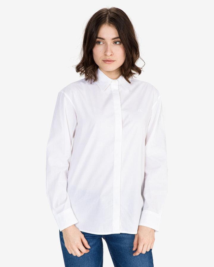 Bílá dámská košile s dlouhým rukávem Calvin Klein