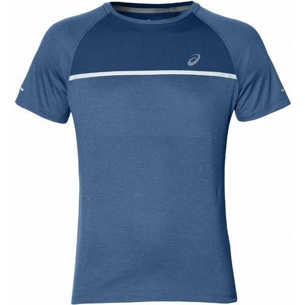 Modré pánské běžecké tričko Asics