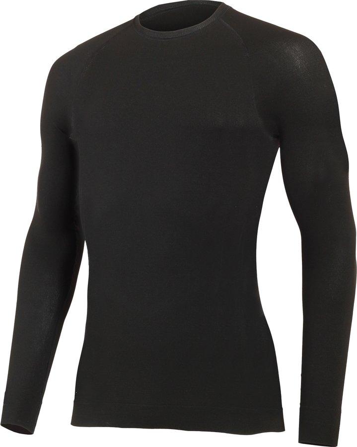 Černé pánské funkční tričko s dlouhým rukávem Lasting - velikost S-M