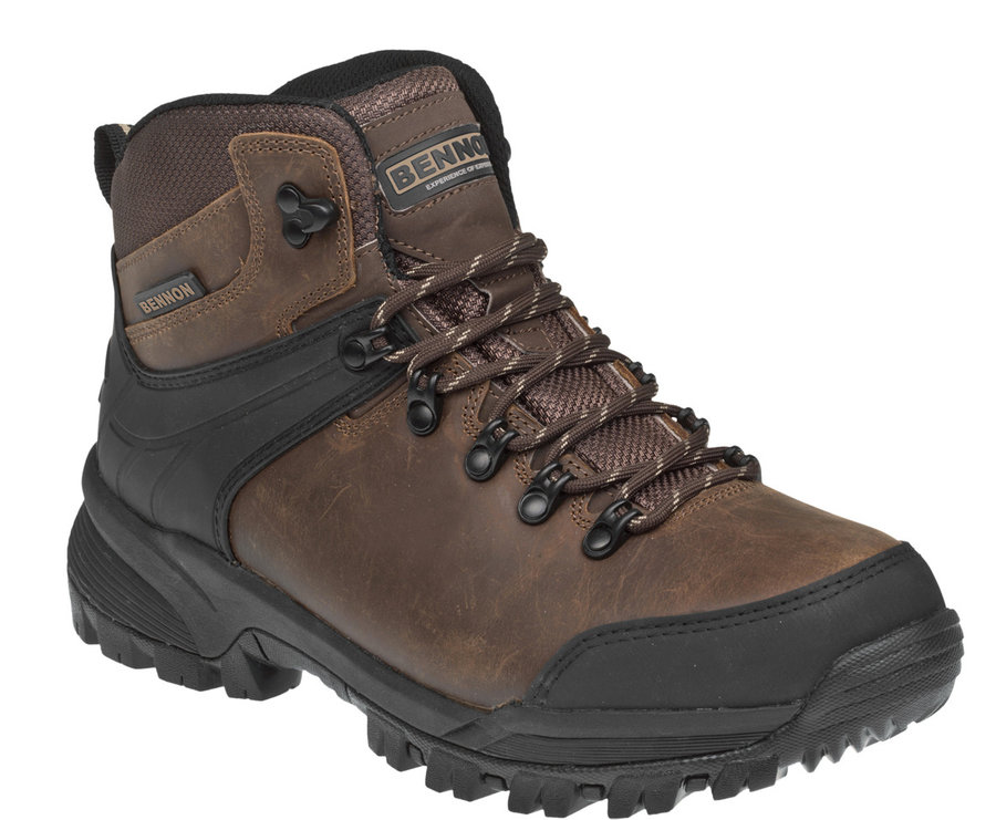 Hnědé pánské kotníkové boty Bennon