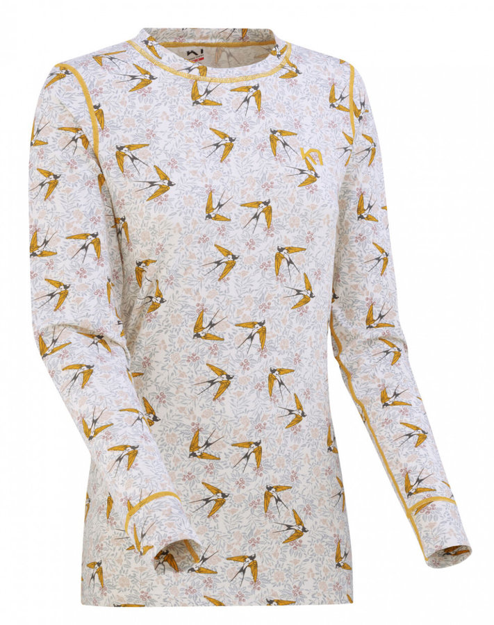 Bílé dámské funkční tričko s dlouhým rukávem Kari Traa