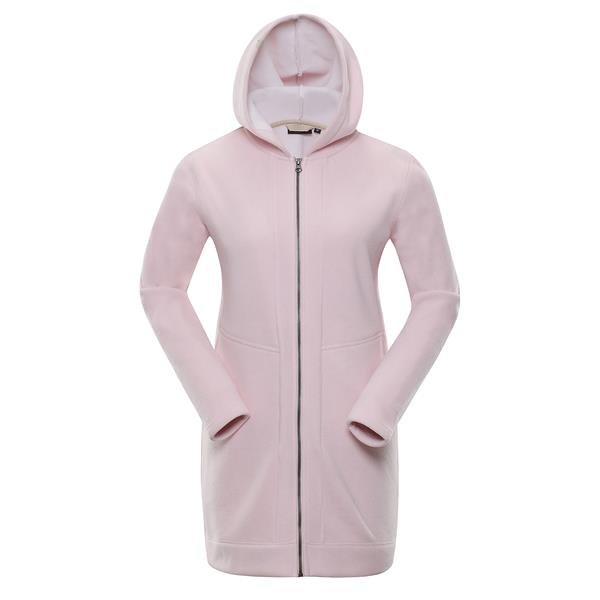 Růžový dámský kabát Alpine Pro - velikost L
