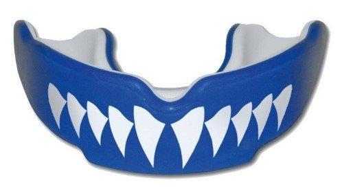 Bílo-modrý chránič na zuby na hokej SAFEJAWZ