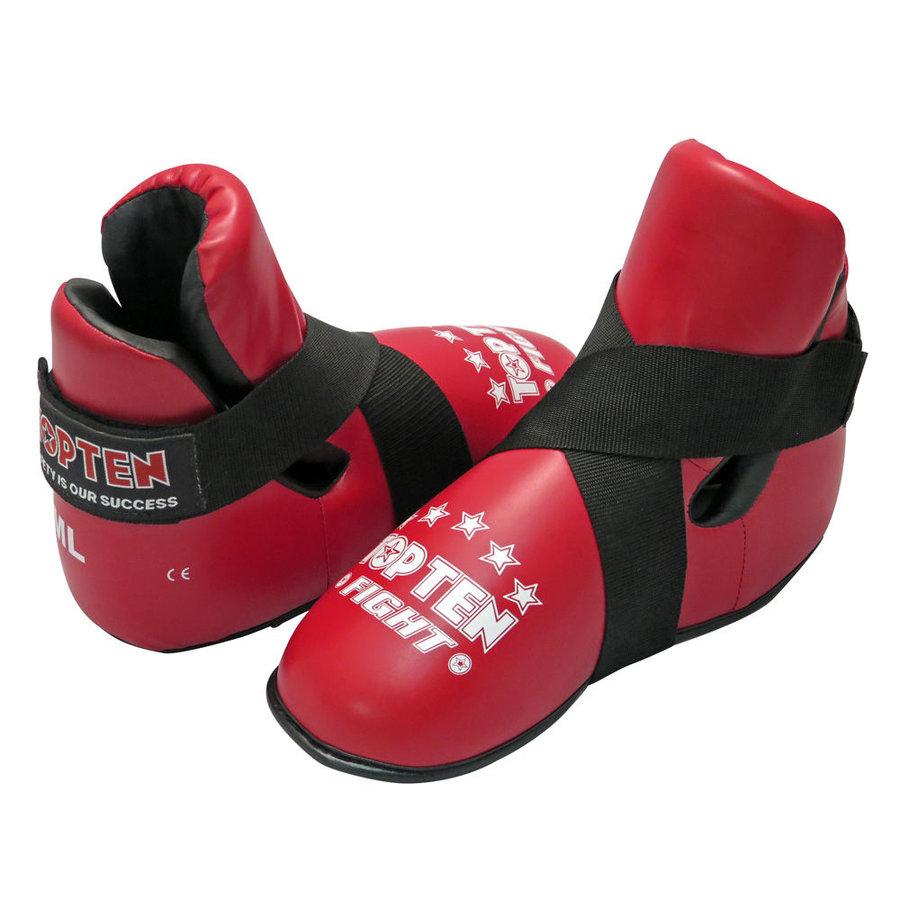 Červené chrániče na nohy Top Ten - velikost L
