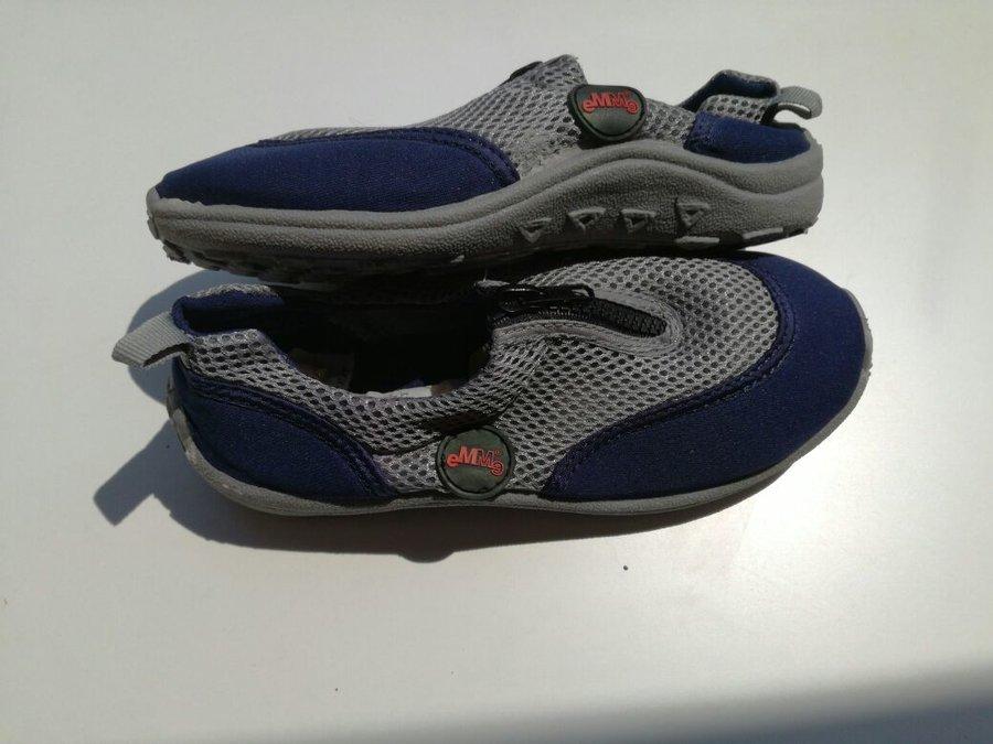 Modro-šedé dětské boty do vody Emme