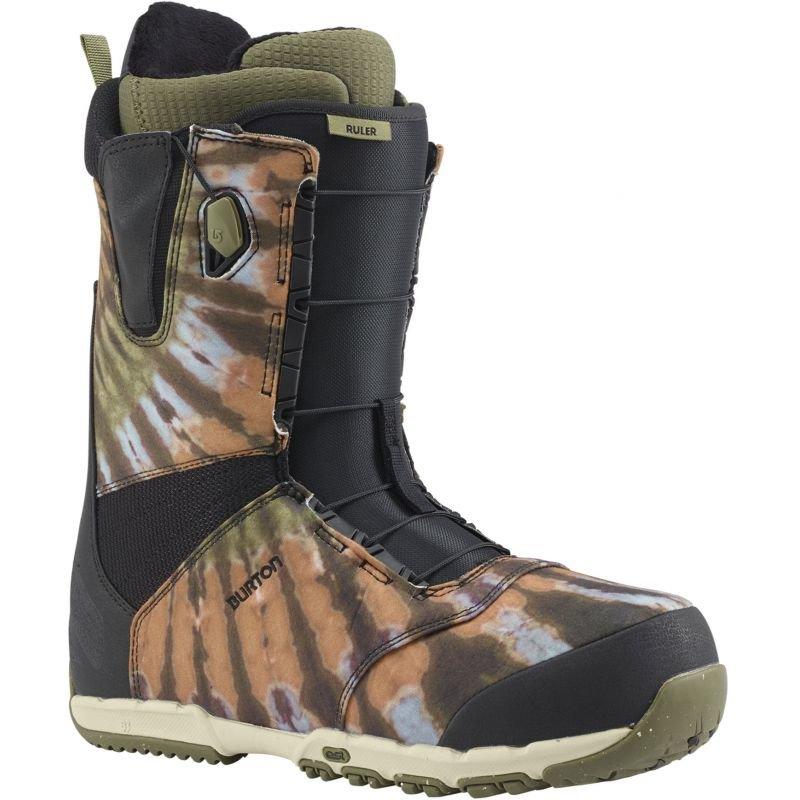Černo-zelené pánské boty na snowboard Burton