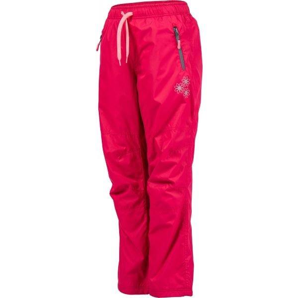 Růžové dětské lyžařské kalhoty Lewro