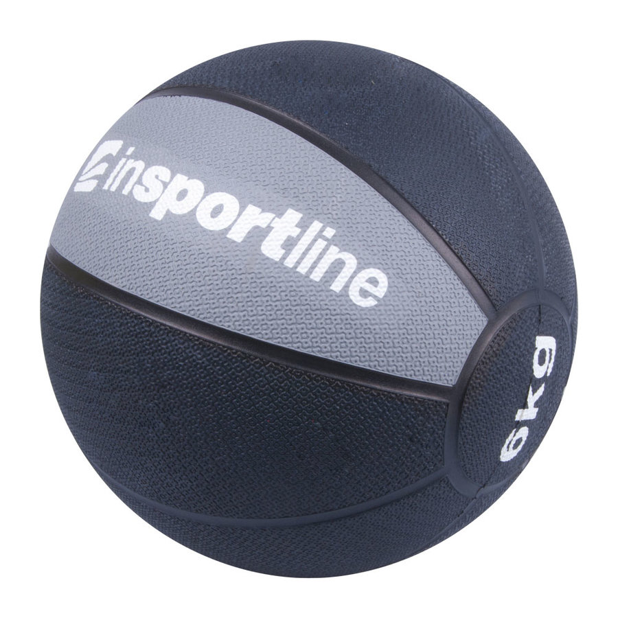 Medicinbal bez úchopů inSPORTline - 6 kg