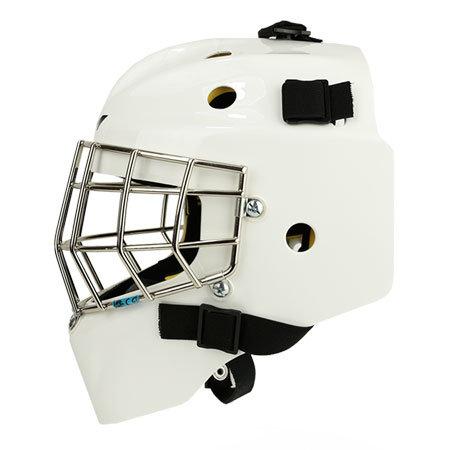 Bílá brankářská hokejbalová maska - junior Axis, CCM - velikost 49-54 cm