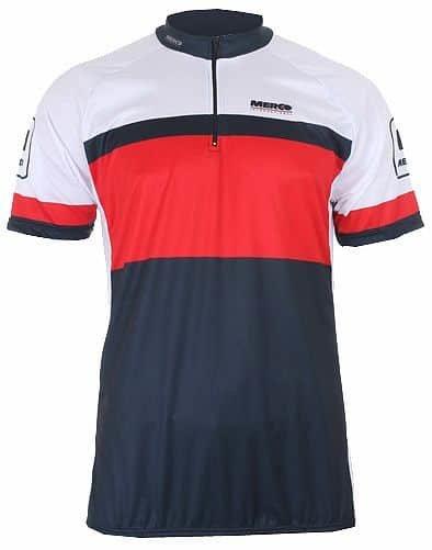 Bílo-modrý pánský nebo dámský cyklistický dres Merco - velikost L