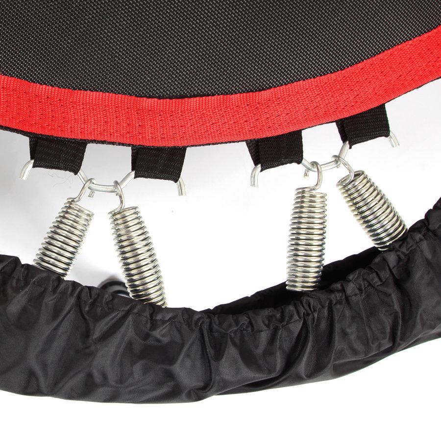 Kruhová fitness trampolína s madlem inSPORTline - průměr 122 cm