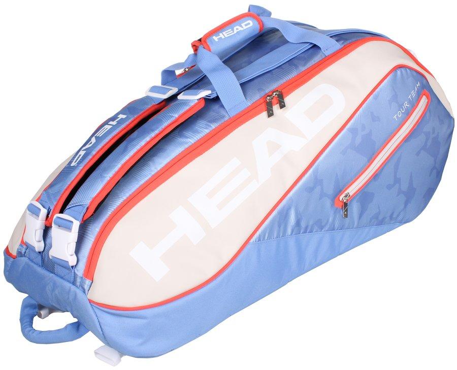 Modro-šedá tenisová taška s popruhy na záda Head