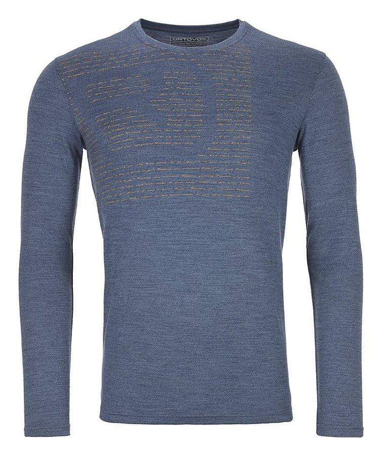 Modré pánské termo tričko s dlouhým rukávem Ortovox - velikost XXL