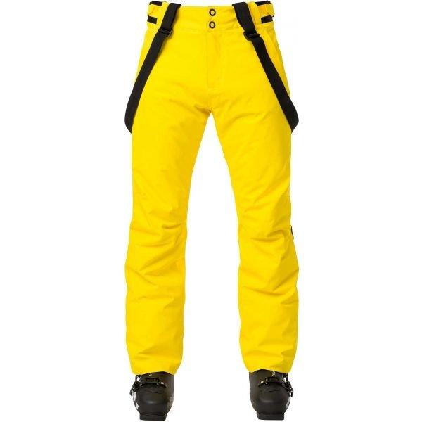 Žluté pánské lyžařské kalhoty Rossignol - velikost XXL