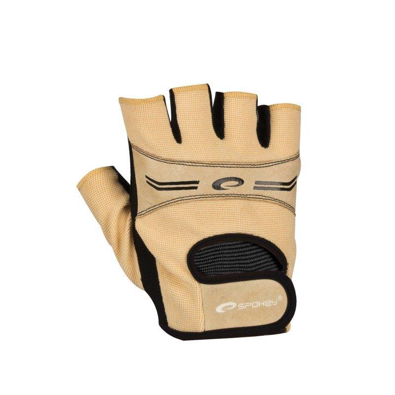 Fitness rukavice - SPOKEY - ELENA Dámské Fitness rukavice béžová vel. M