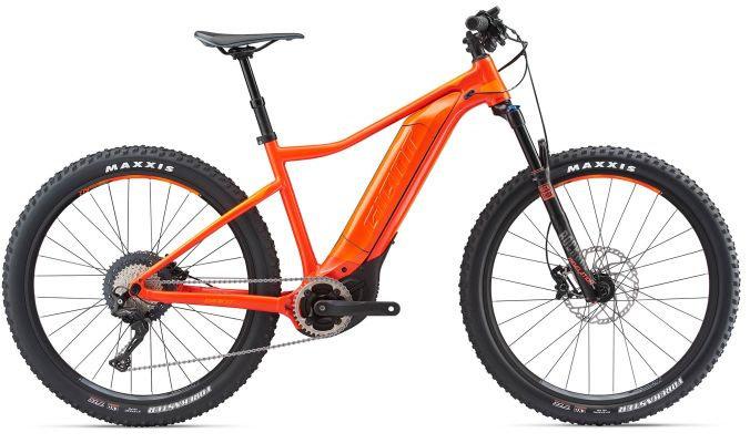 Červeno-oranžové horské pánské elektrokolo Dirt-E+ 1, GIANT