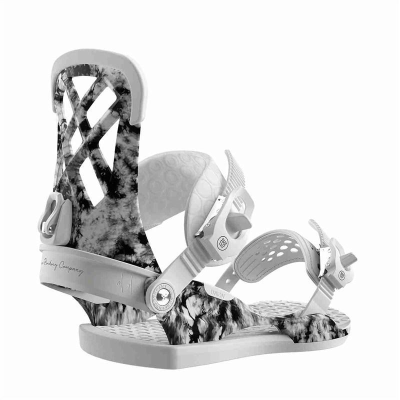 Bílé vázání na snowboard Union - velikost S