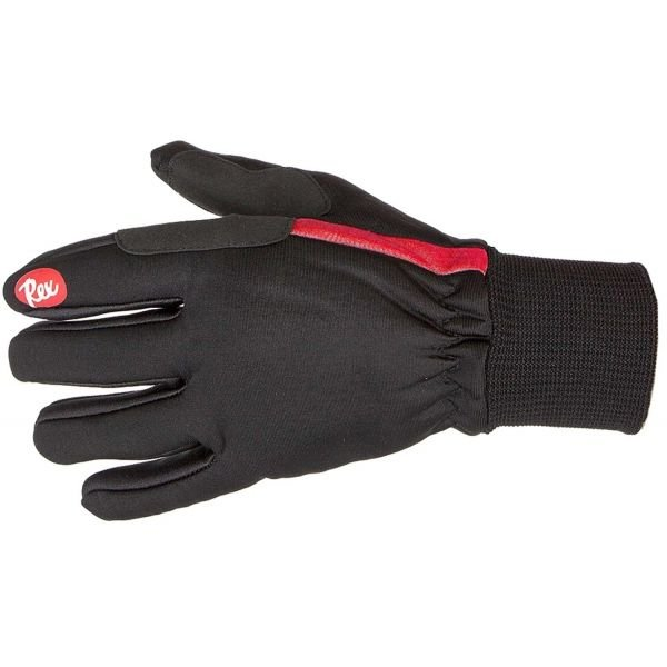 Černé rukavice na běžky Rex