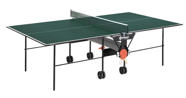 Zelený vnitřní stůl na stolní tenis S1-12i, Sponeta