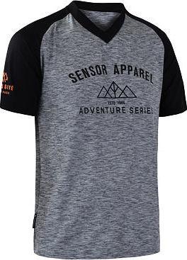 Černo-šedý pánský cyklistický dres Sensor