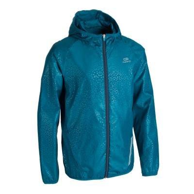 Modrá dětská bunda na atletiku - větrovka Kalenji