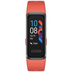 Červený fitness náramek Band 4, Huawei