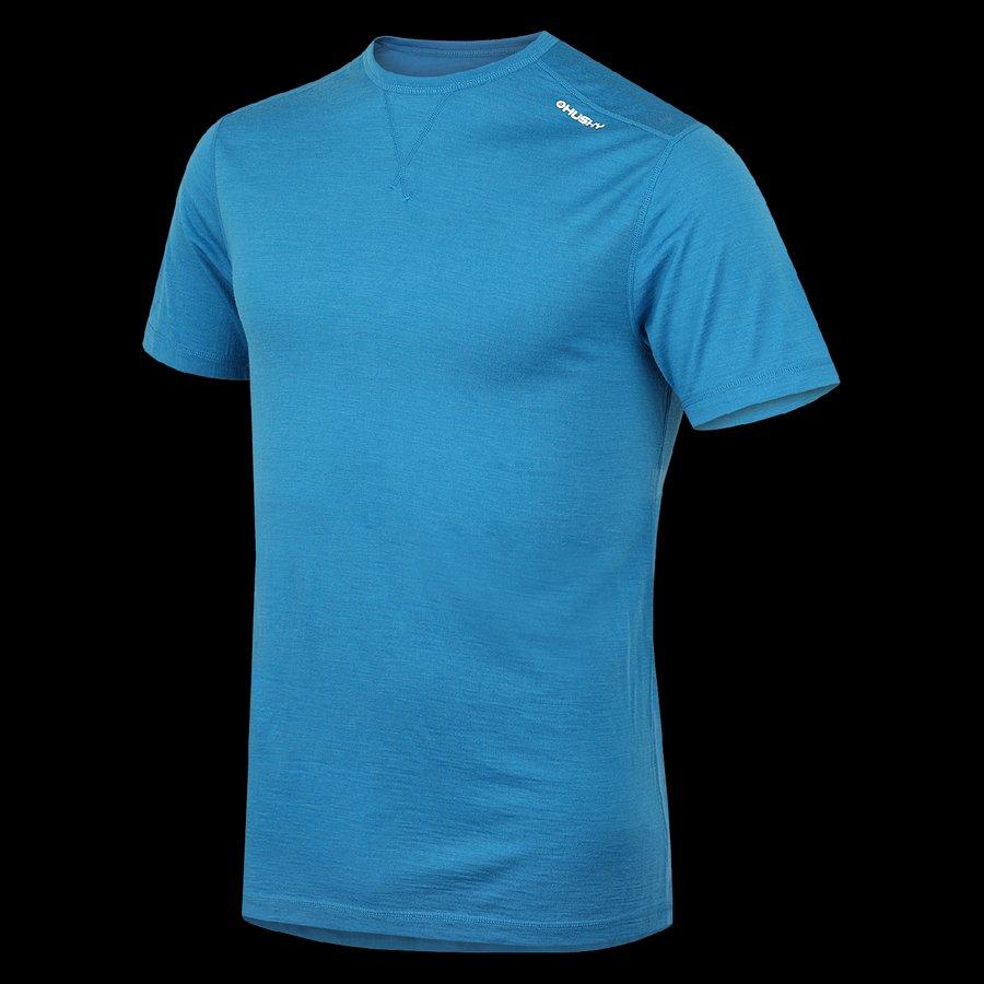 Modré termo pánské termo tričko s krátkým rukávem Husky