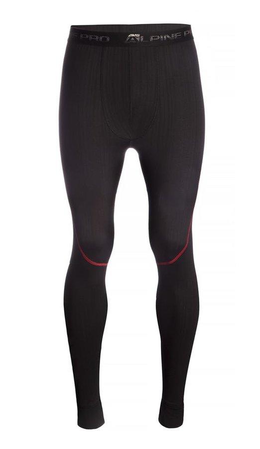 Černé pánské funkční kalhoty Alpine Pro - velikost M