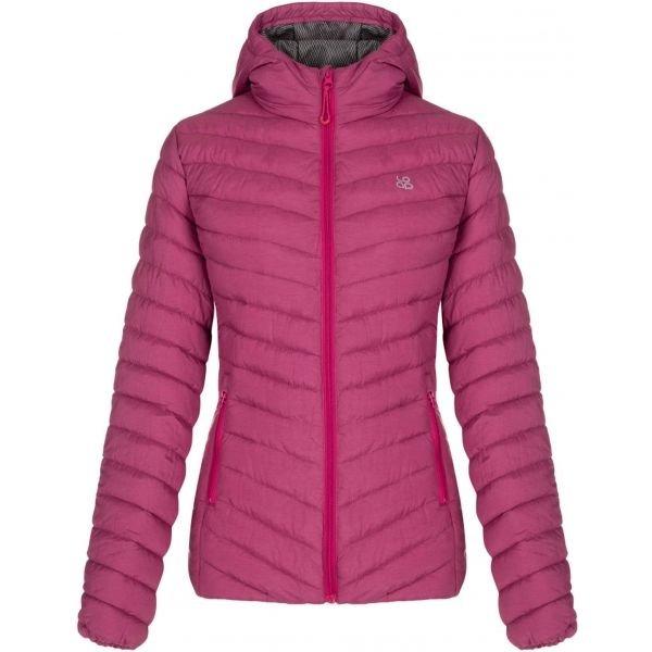 Růžová zimní dámská bunda Loap