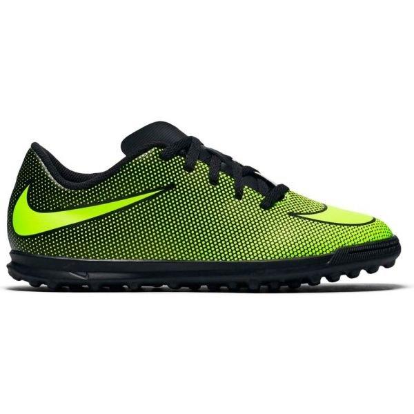 Černo-zelené dětské kopačky turfy Nike