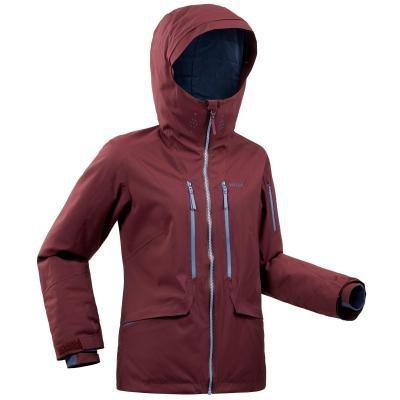 Červená dámská lyžařská bunda Wed'ze
