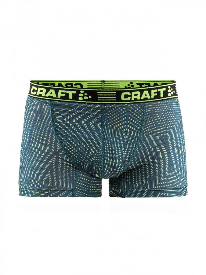 Zeleno-žluté pánské boxerky Craft - velikost S