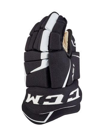 """Bílo-černé hokejové rukavice - youth CCM - velikost 8"""""""