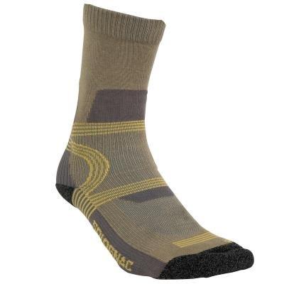 Khaki lovecké ponožky Solognac