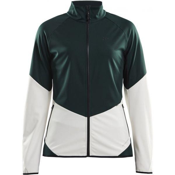 Bílo-zelená softshellová dámská bunda Craft