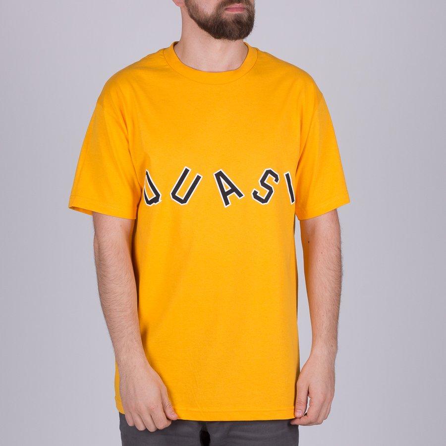 Žluté pánské tričko s krátkým rukávem Charlie Gold, Quasi