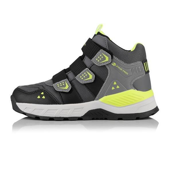Šedé dětské trekové boty Alpine Pro - velikost 34 EU