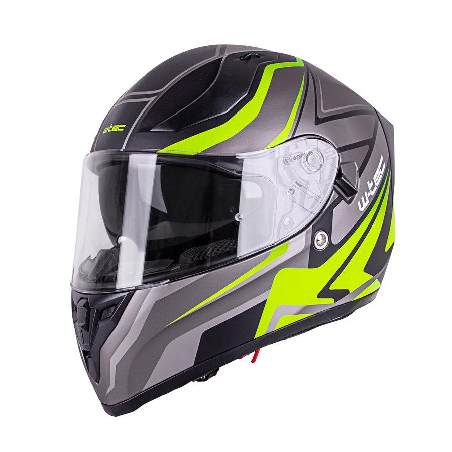 Černo-žlutá unisex helma na motorku V128 Graphic, W-TEC