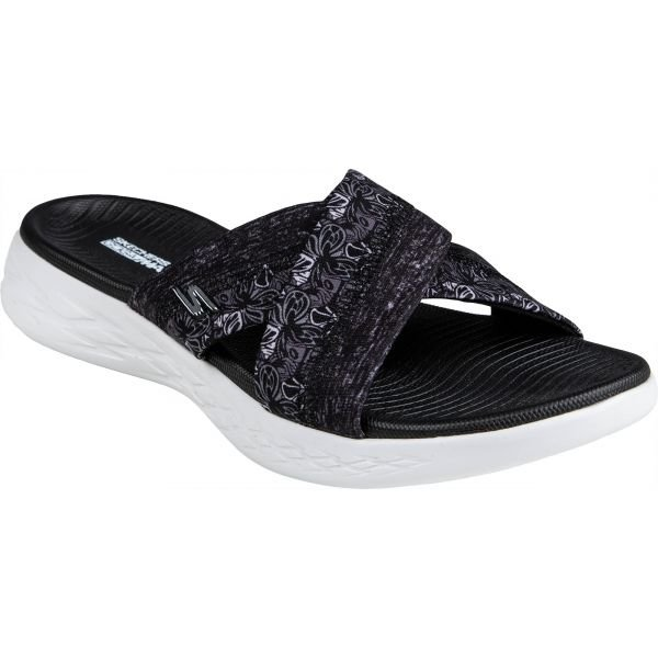 Černé dámské pantofle Skechers