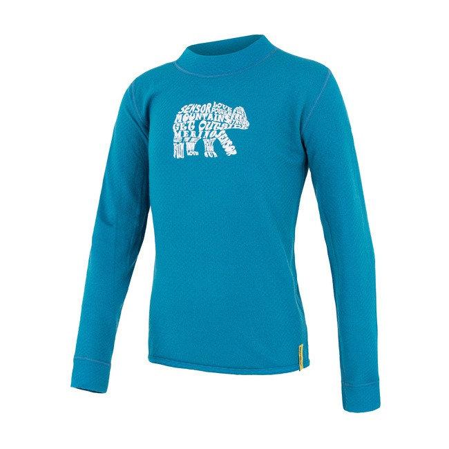 Modré dětské funkční tričko s dlouhým rukávem Sensor