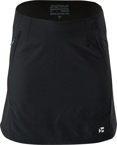 Černá dámská sukně Silvini - velikost M, Černé dámské cyklistické kraťasy Silvini - velikost M