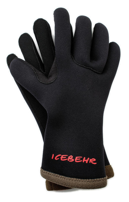 Černé neoprenové rukavice Icebehr Titanium, Behr - velikost XL