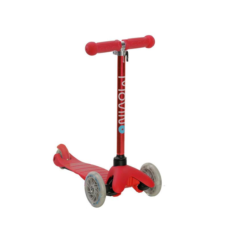 Červená dětská trojkoloběžka MINI SCOOTER, Movino - nosnost 50 kg