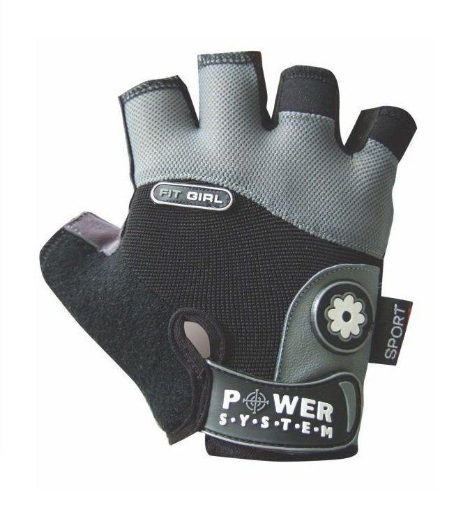 Černo-šedé fitness rukavice Power System