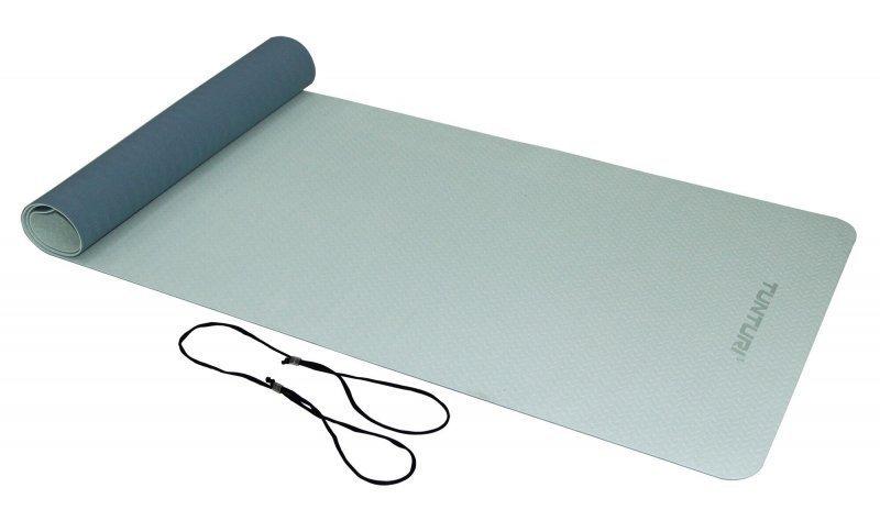 Modrá podložka na jógu Tunturi - délka 183 cm a tloušťka 0,4 cm